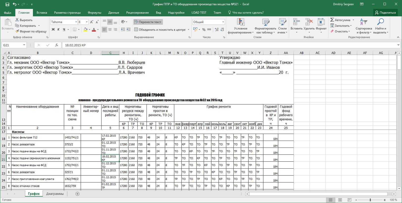 Формирование отчётности в Rubius DrEAM